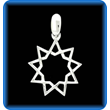 Silver Nine Pointed Star Pendant
