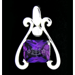 Silver Pendant Ring Symbol on Purple
