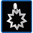 Silver Pendant Nine Pointed Star