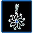 Silver Pendant Star with Genuine Blue Sapphire